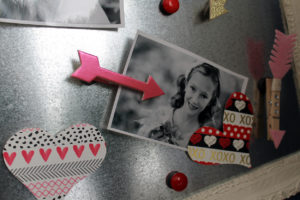 polka dots and picket fences   washi tape heart magnets