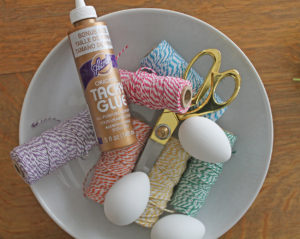 bakers twine eggs | polka dots and picket fences