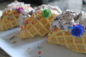 ice cream tacos | polka dots and picket fences