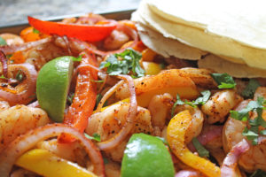 shrimp fajitas | polka dots and picket fences