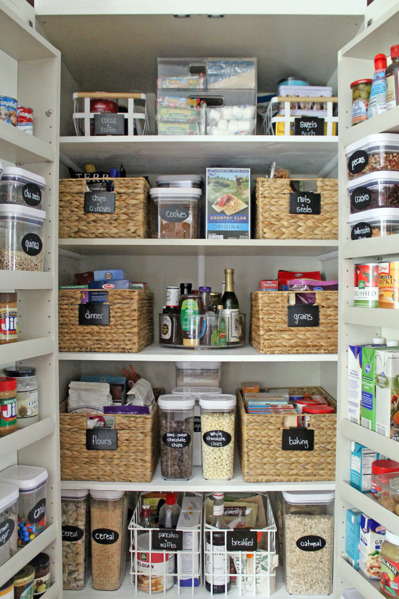 "my ""new"" organized pantry 