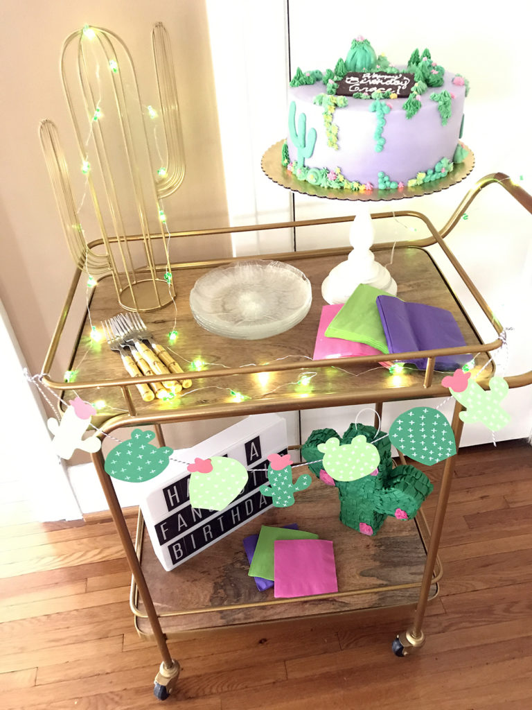 birthday cart styling | polka dots and picket fences