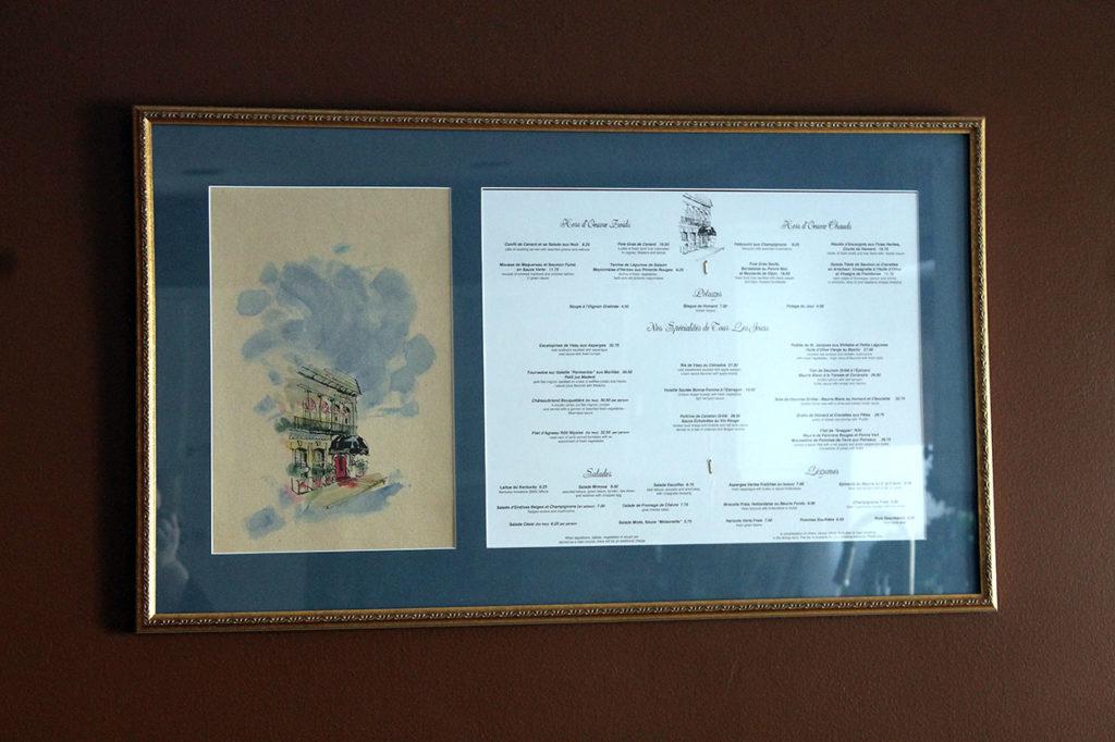 framed menus | polka dots and picket fences