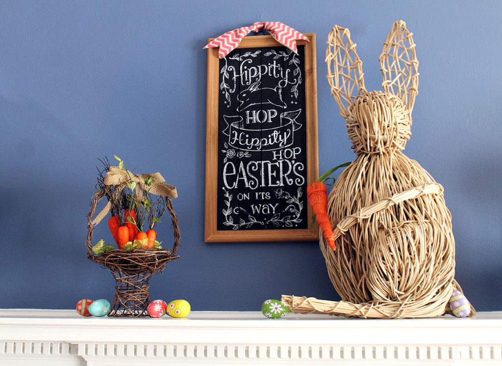 easter mantel | polka dots and picket fences