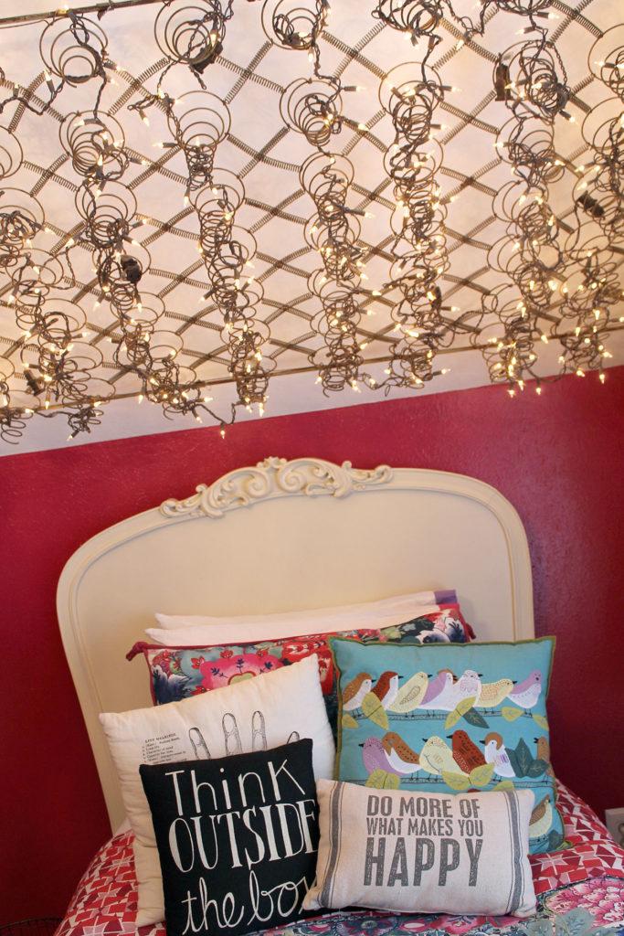 boho chic bedroom   polka dots and picket fences