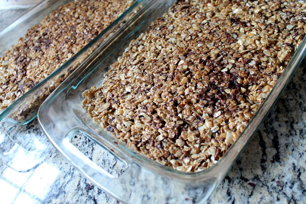 gooey granola goodness | polka dots and picket fences