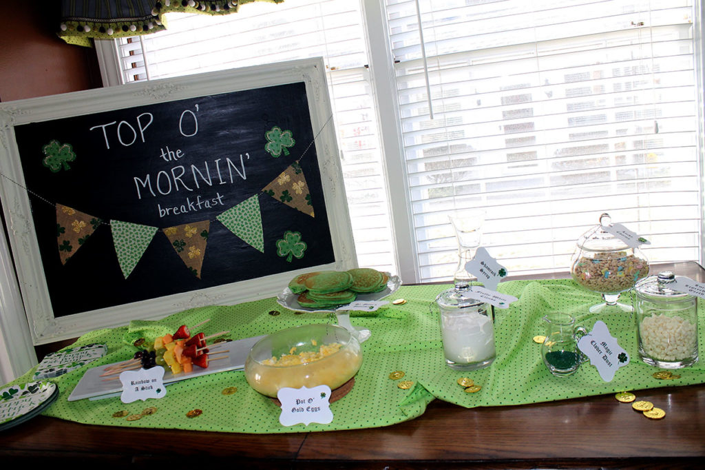 top o' the mornin' breakfast | polka dots and picket fences