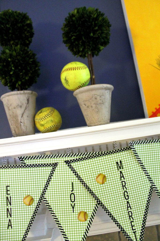 softball sweets station | polka dots and picket fences