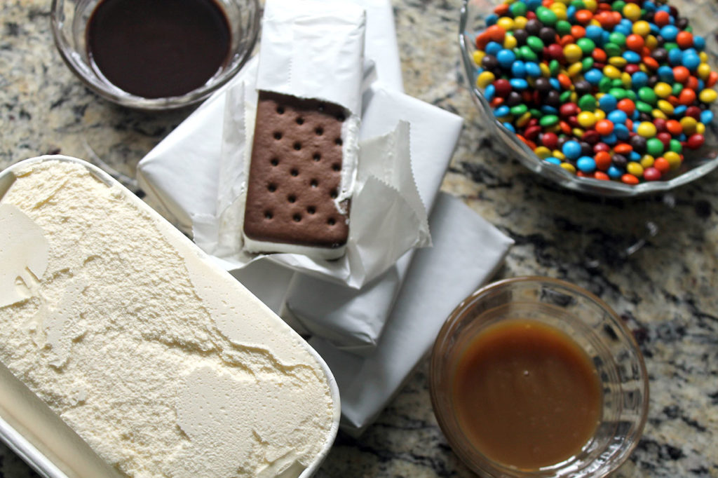 ice cream sandwich cake   polka dots and picket fences