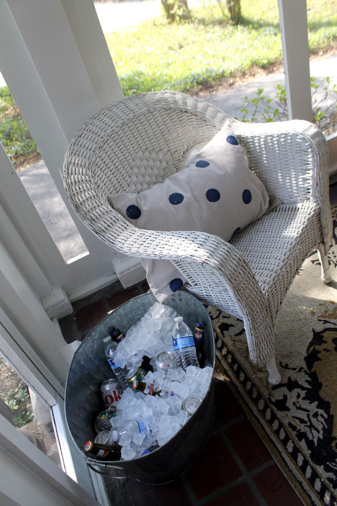 sunporch season | polka dots and picket fences