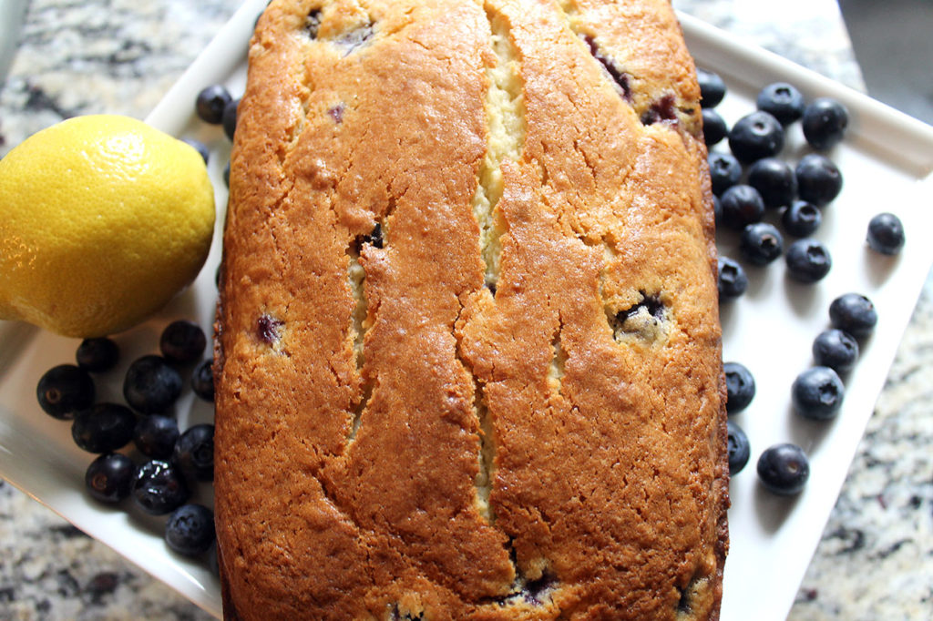 lemon blueberry breakfast bread | polka dots and picket fences