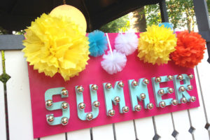 summer party   polka dots and picket fences