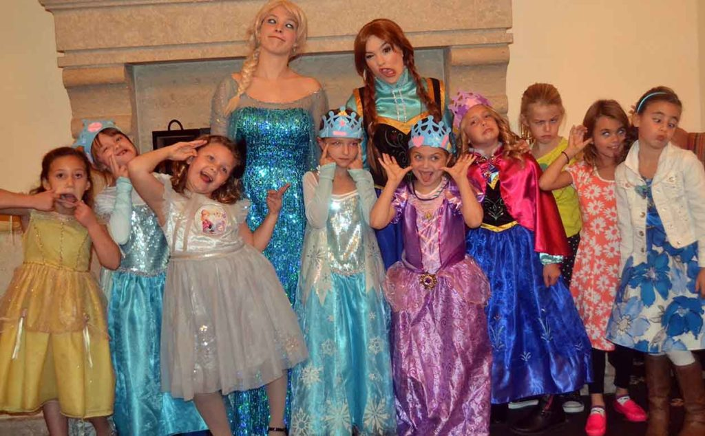frozen birthday party   polka dots and picket fences