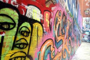 graffiti wall | polka dots and picket fences