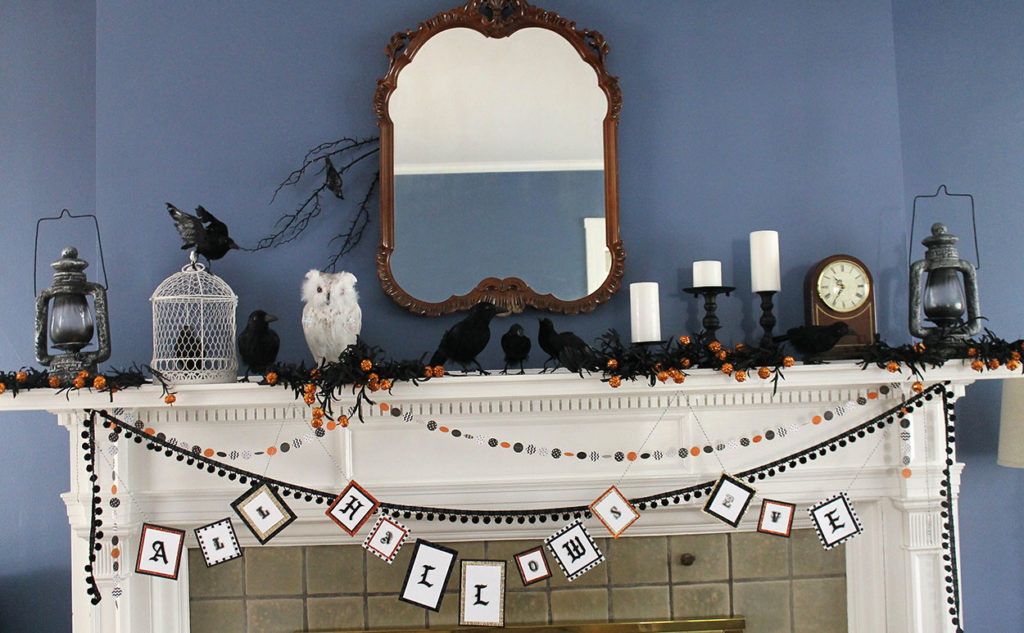 "a mantel ""for the birds"" 