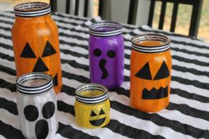 mason jar lanterns | polka dots and picket fences