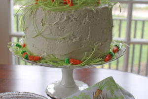 four-layer vanilla bunny cake