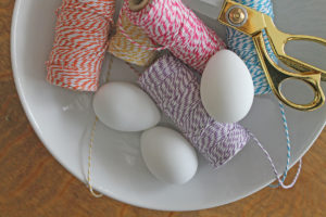baker's twine eggs | polka dots and picket fences