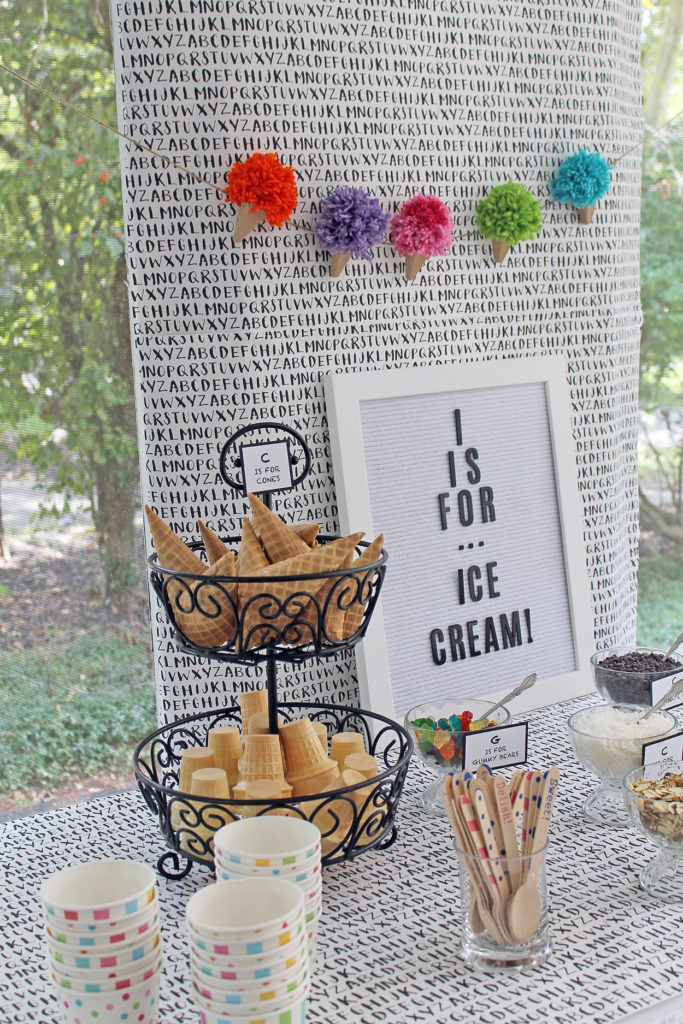 i is for ice cream | polka dots and picket fences