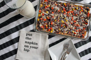 reese's piece magic bars | polka dots and picket fences