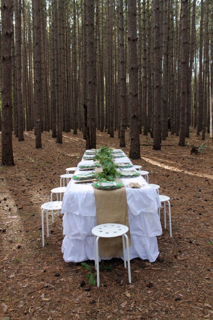pop up dinner party | polka dots and picket fences