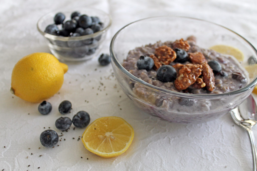 blueberry chia oatmeal | polka dots and picket fences