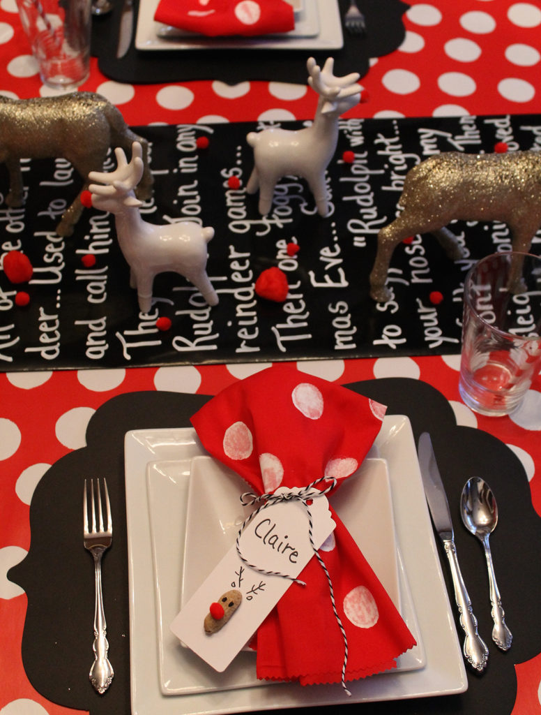 rudolph tablescape | polka dots and picket fences