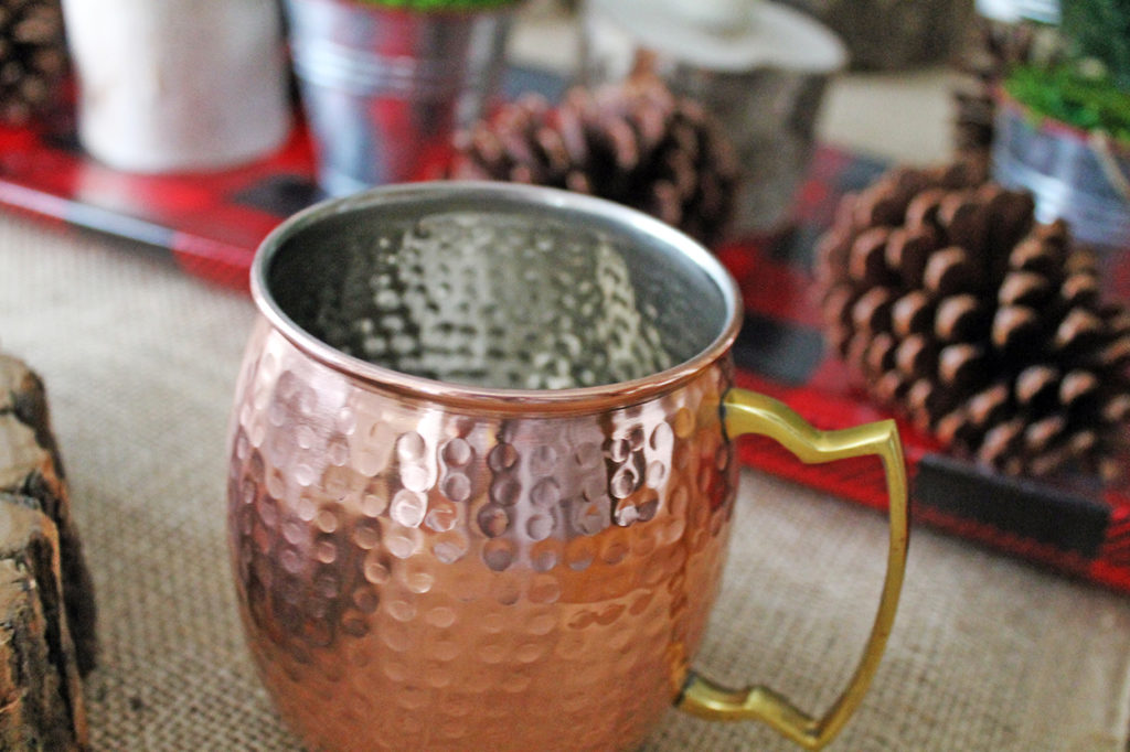 rustic holiday tablescape | polka dots and picket fences