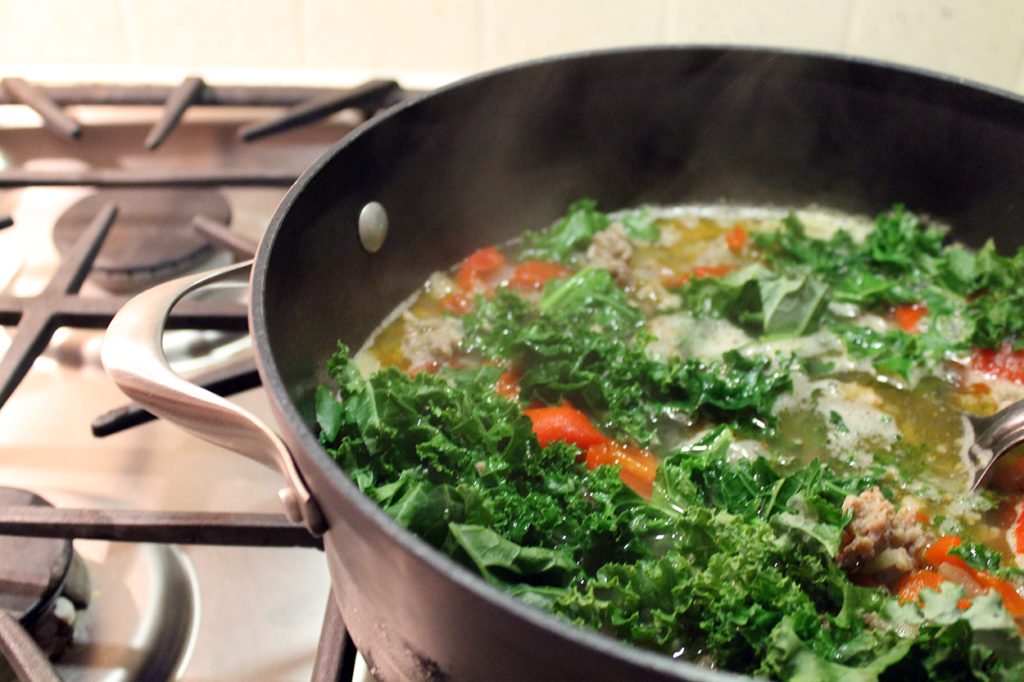 zuppa toscana soup   polka dots and picket fences