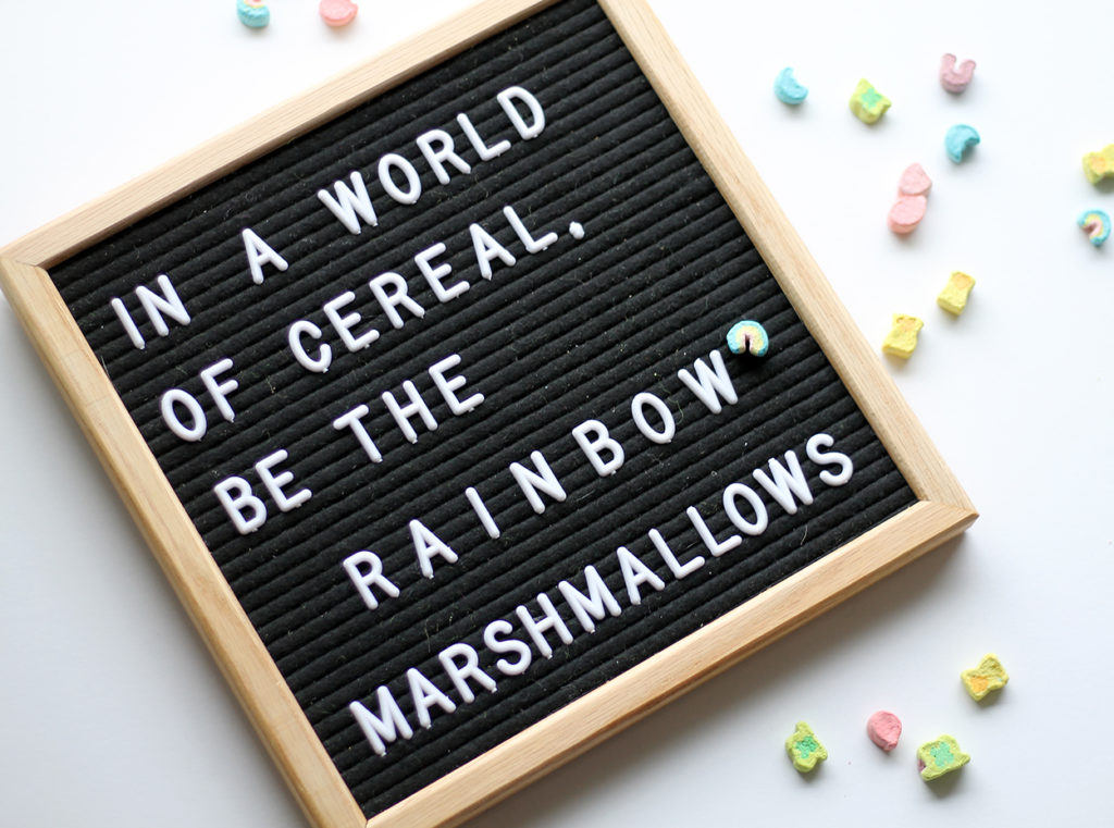 lucky charms milkshakes | polka dots and picket fences