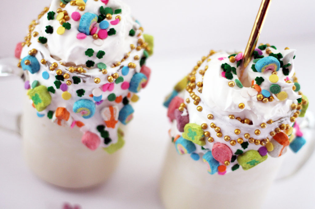lucky charm milkshakes | polka dots and picket fences