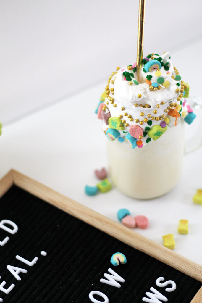 lucky charms milkshake | polka dots and picket fences