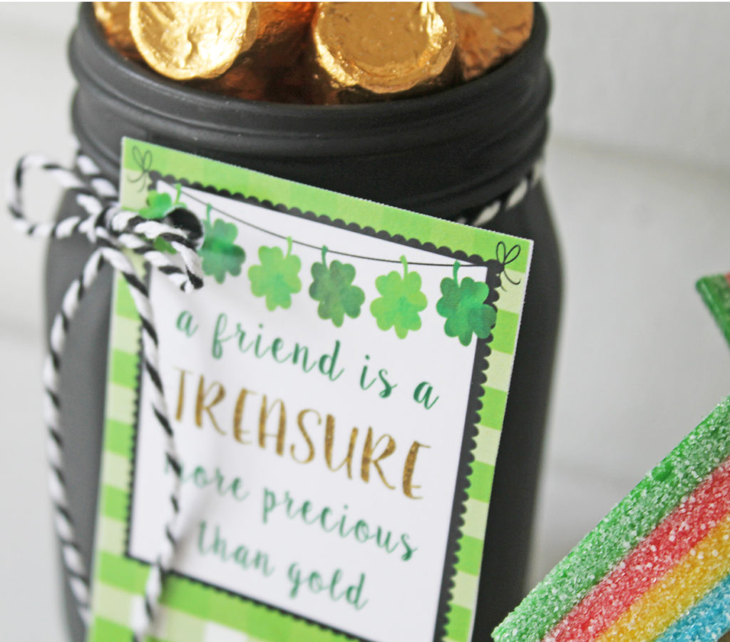 st patricks day treat jars | polka dots and picket fences