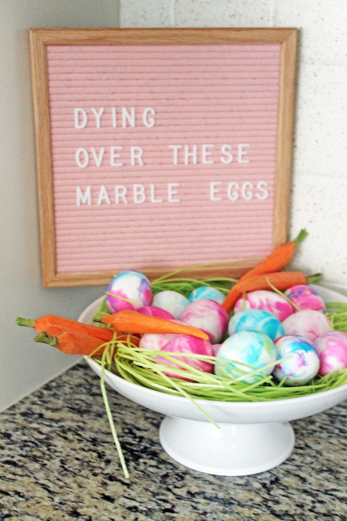 marble eggs | polka dots and picket fences