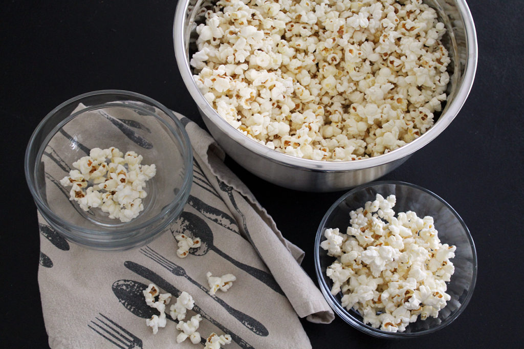 coconut oil popcorn | polka dots and picket fences