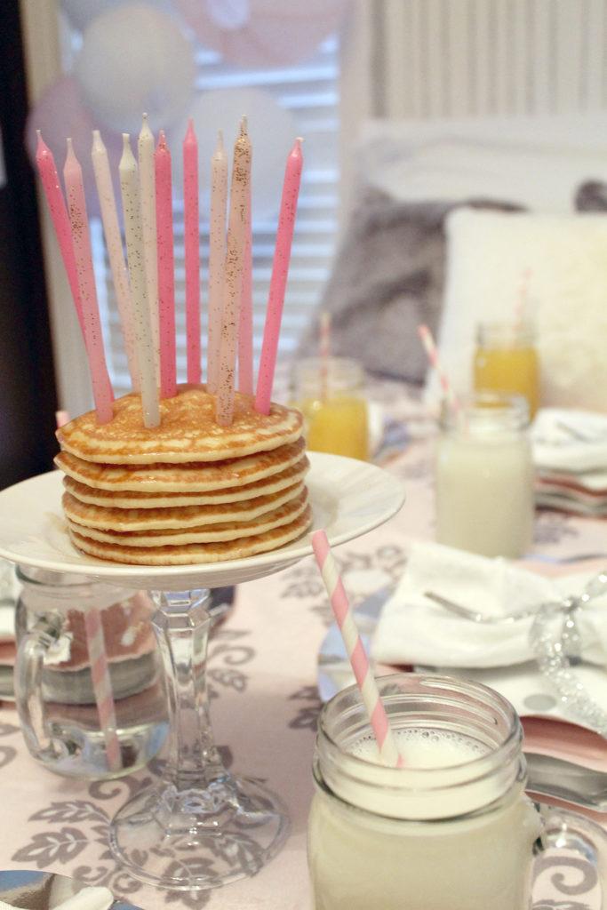 slumber birthday party | polka dots and picket fences