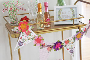 spring is here bar cart styling | polka dots and picket fences