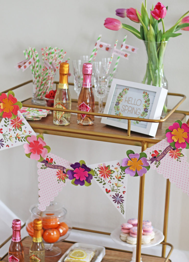 spring is here bar cart | polka dots and picket fences