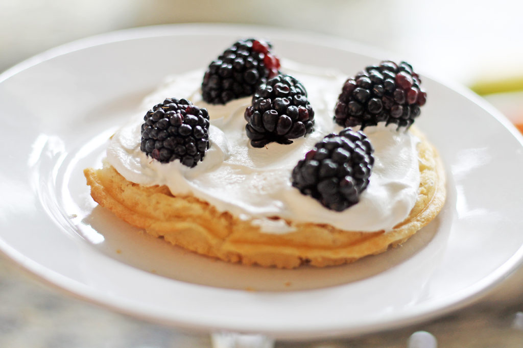 rainbow waffle cake | polka dots and picket fences