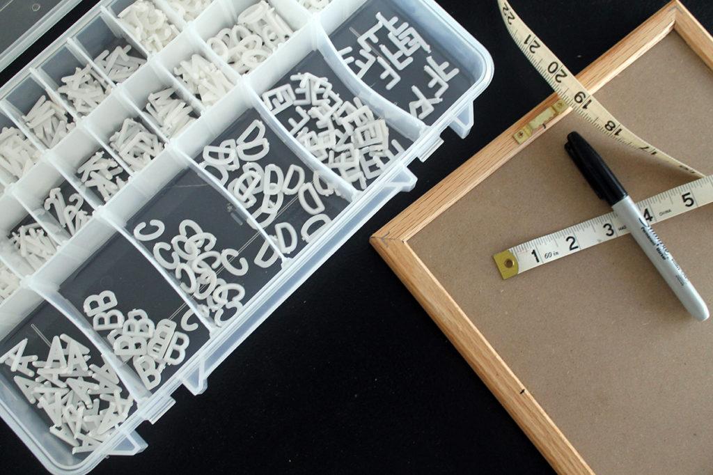 felt letter board   polka dots and picket fences