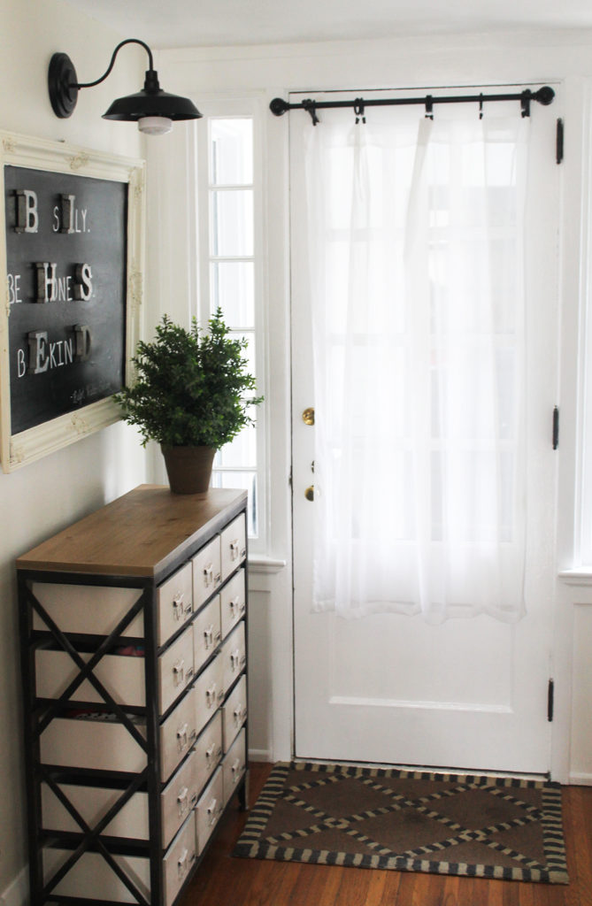 functional foyer | polka dots and picket fences