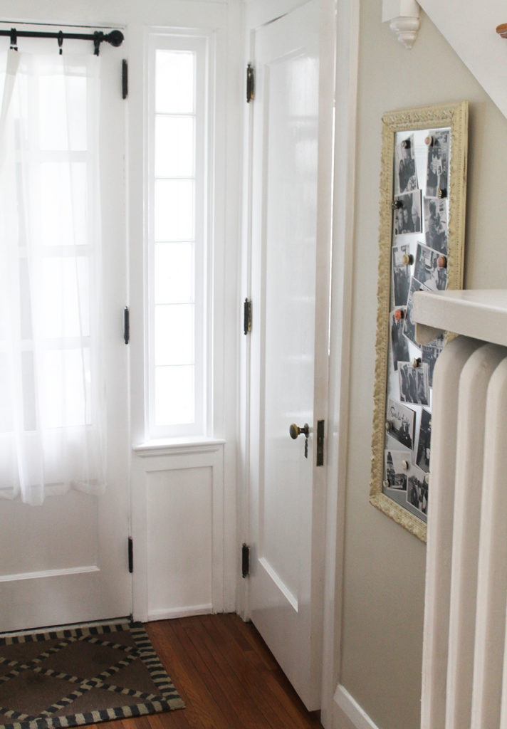 functional foyer   polka dots and picket fences