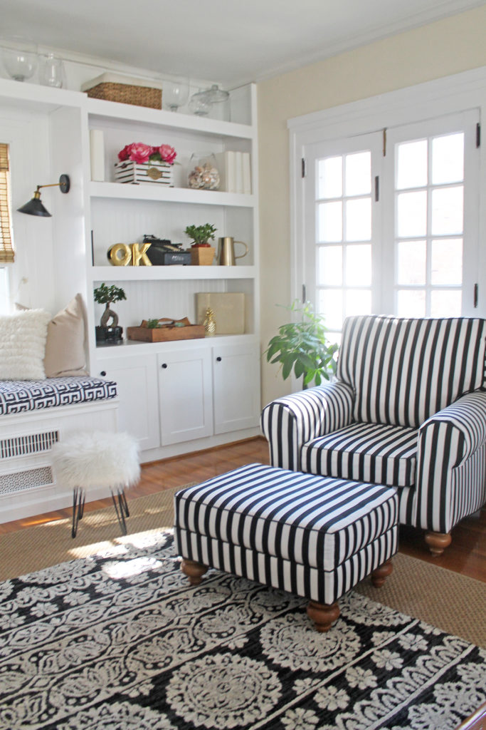 living room makeover | polka dots and picket fences