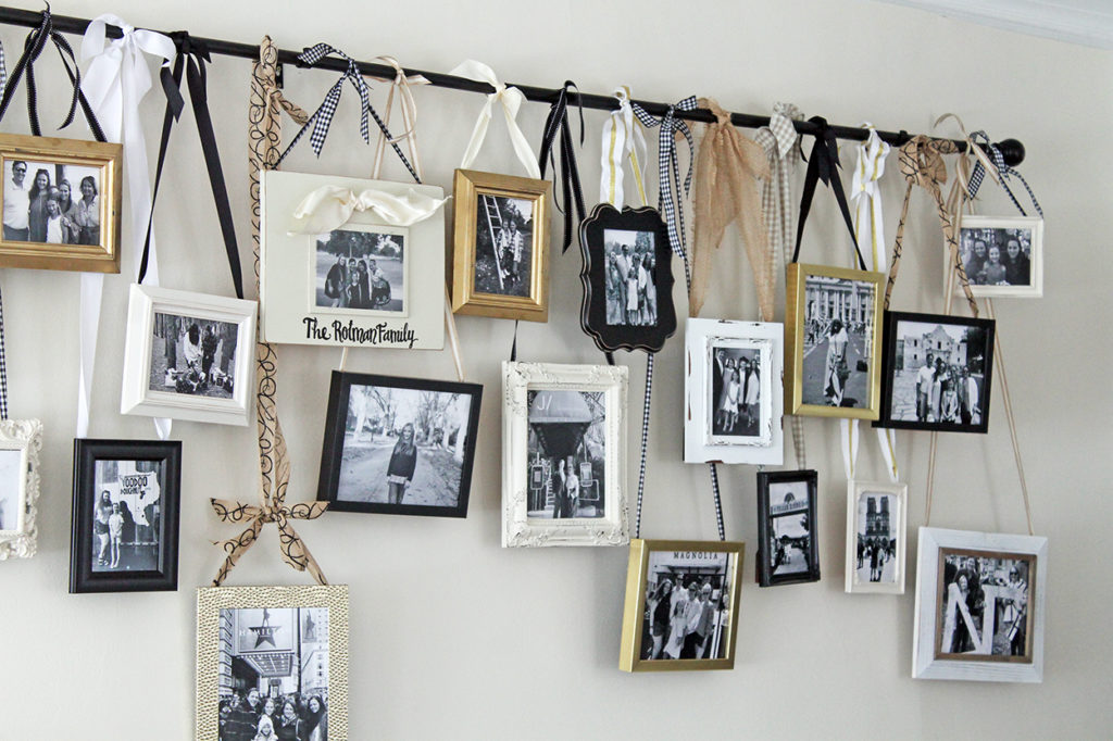 diy hanging gallery wall | polka dots and picket fences