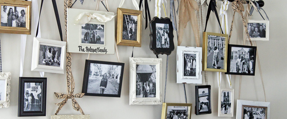 diy hanging gallery wall