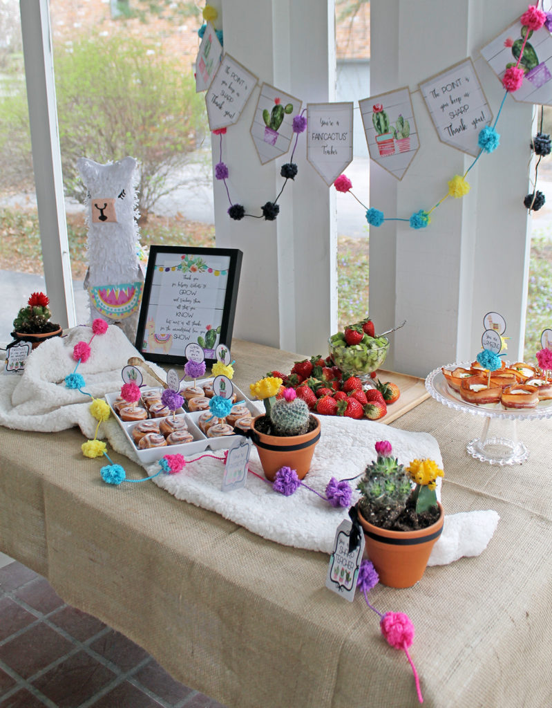 teacher appreciation breakfast | polka dots and picket fences