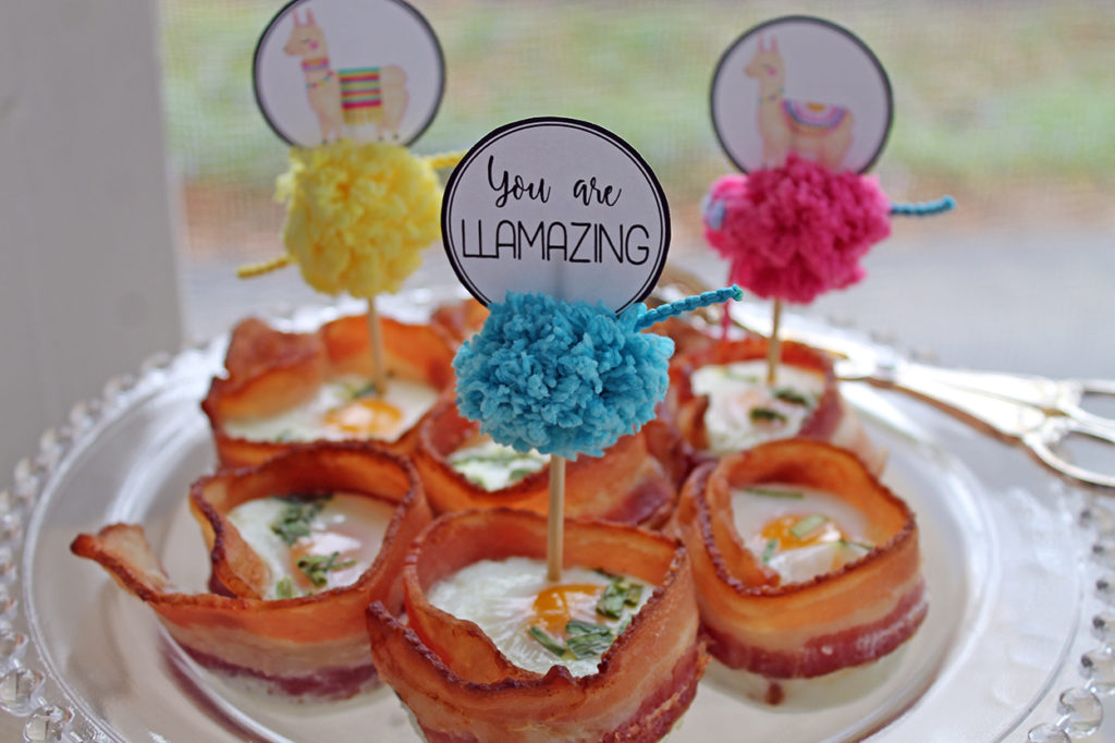 baked egg and bacon cups | polka dots and picket fences