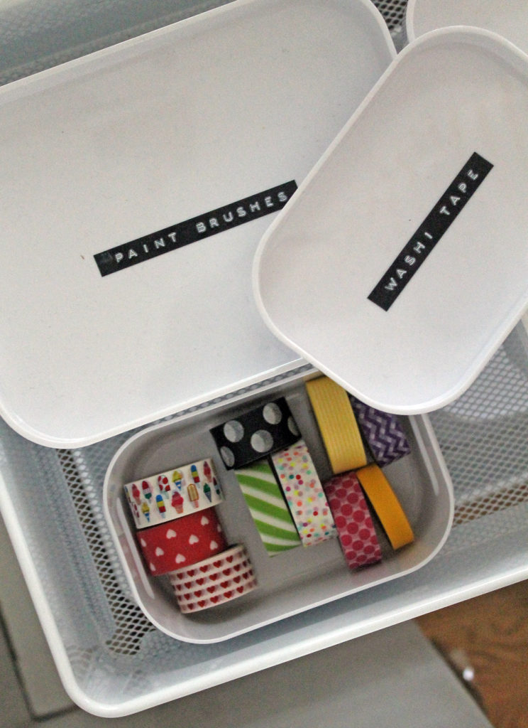 rolling cart organization | polka dots and picket fences