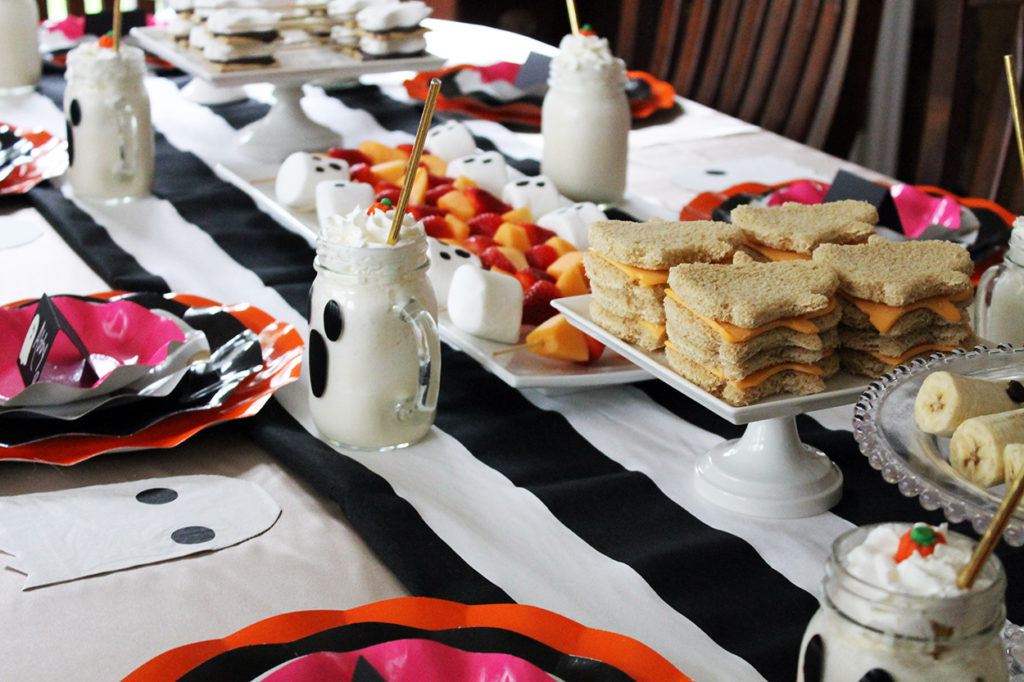 ghost themed lunch | polka dots and picket fences