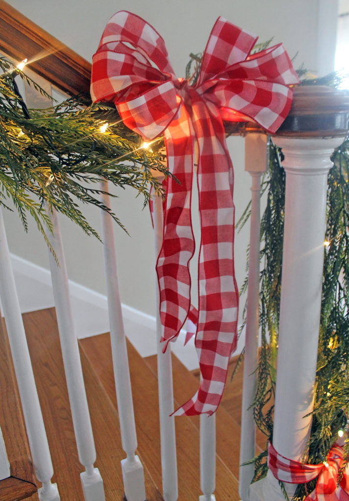 my christmas staircase | polka dots and picket fences